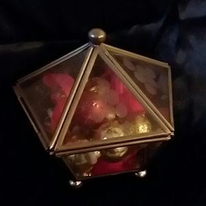 rare glass trinket box